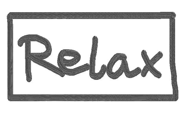 entspann dich und sei glücklich